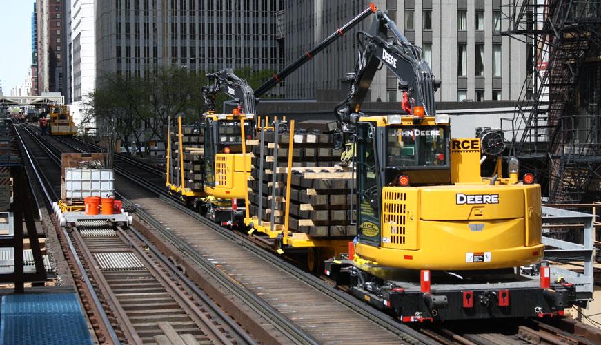 Tie Crane | On Track Equipment | RCE Rail | RCE Equipment