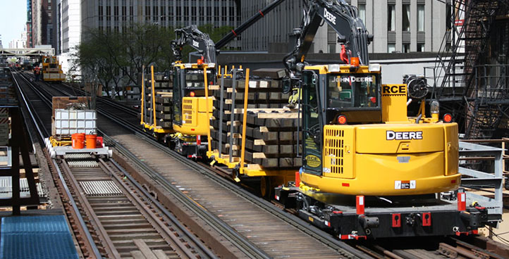 High Rail - Tie Crane